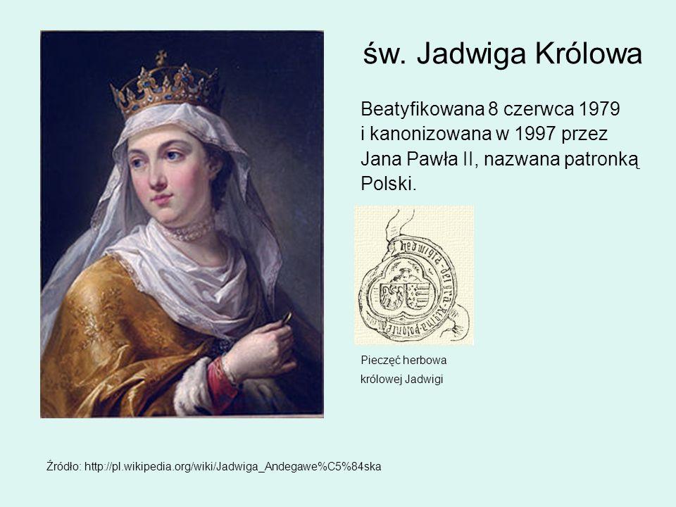 św. Jadwiga Królowa Beatyfikowana 8 czerwca 1979