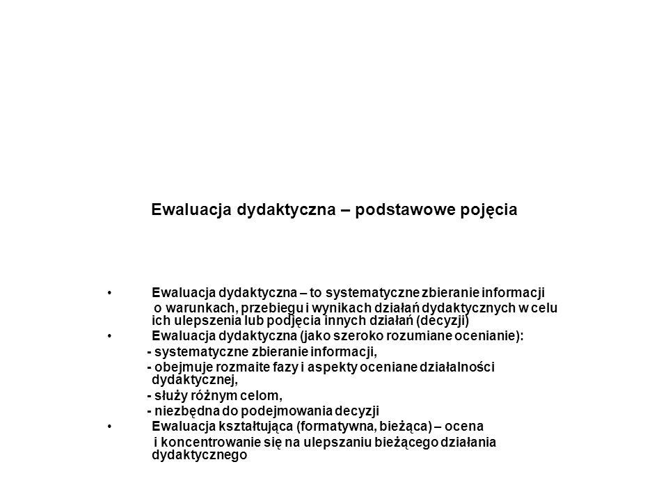 Ewaluacja dydaktyczna – podstawowe pojęcia