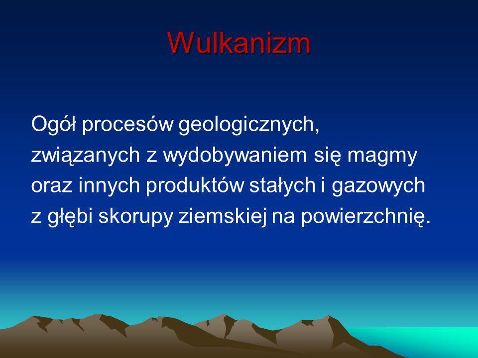 Wulkanizm Ogół procesów geologicznych,