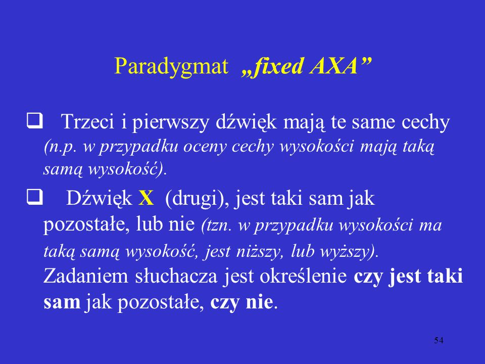 "Paradygmat ""fixed AXA"