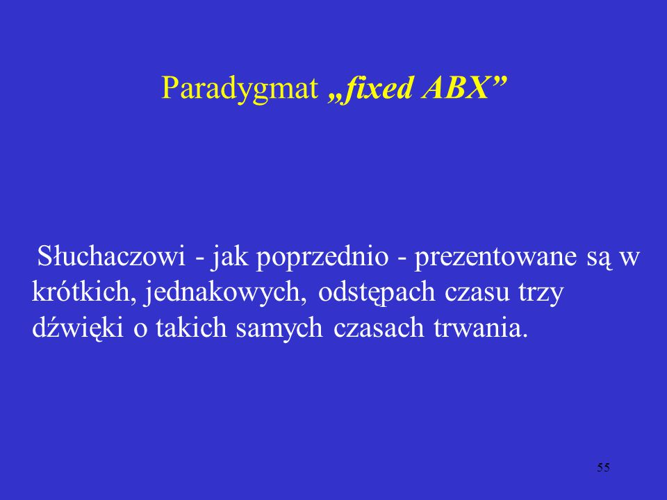 "Paradygmat ""fixed ABX"