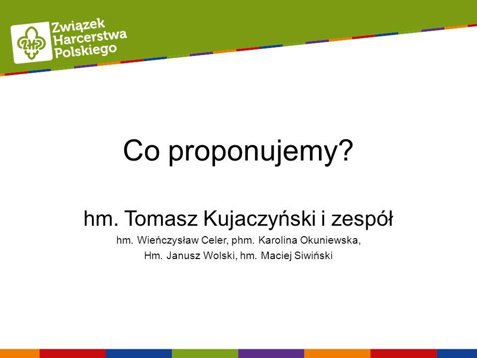 Co proponujemy hm. Tomasz Kujaczyński i zespół