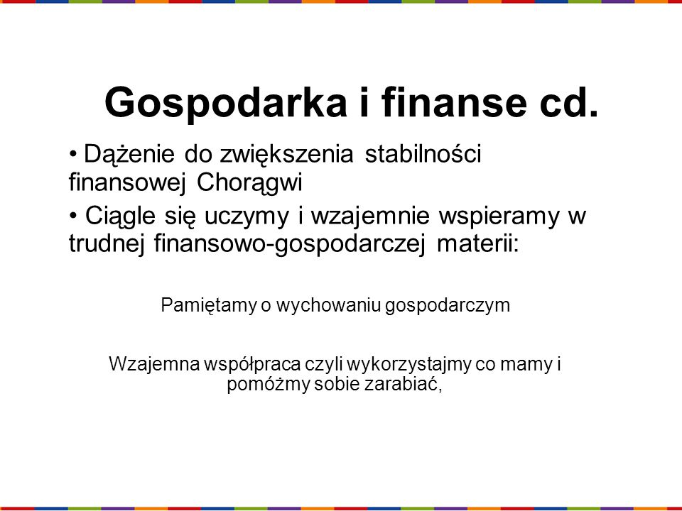 Gospodarka i finanse cd.