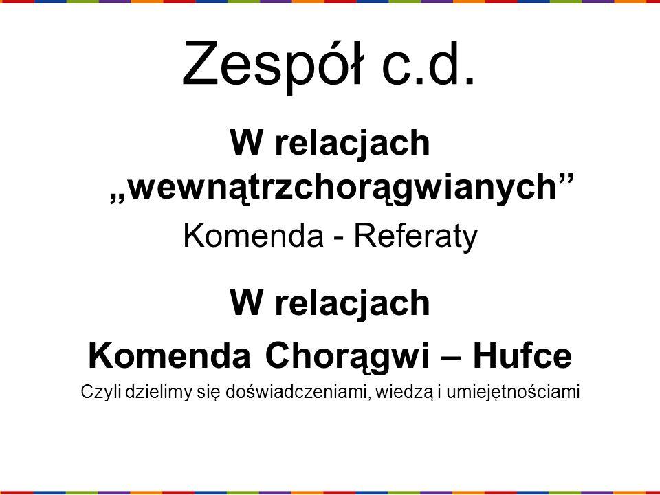 """W relacjach """"wewnątrzchorągwianych Komenda Chorągwi – Hufce"""