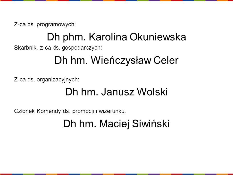 Dh phm. Karolina Okuniewska Dh hm. Wieńczysław Celer