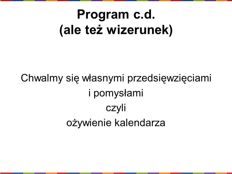 Program c.d. (ale też wizerunek)
