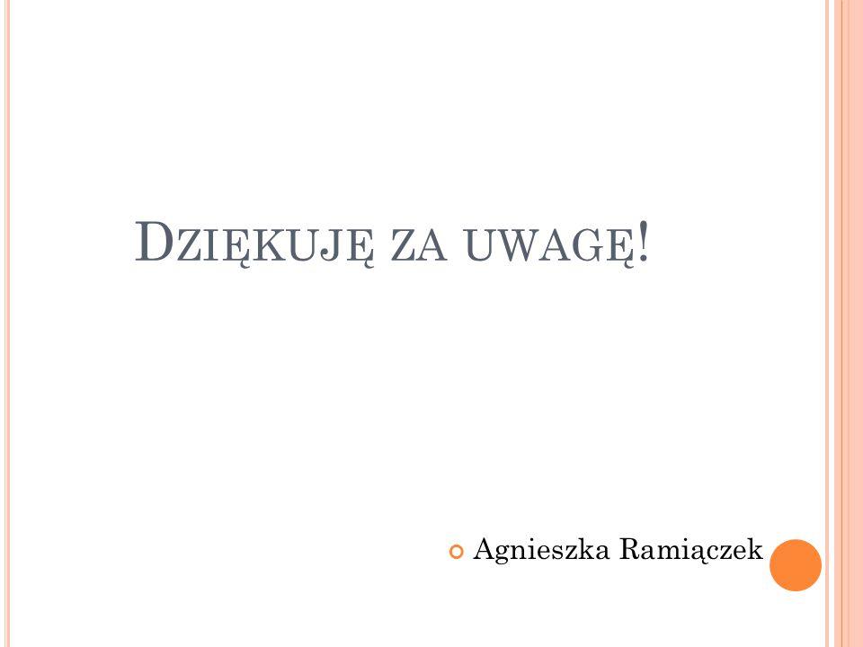 Dziękuję za uwagę! Agnieszka Ramiączek
