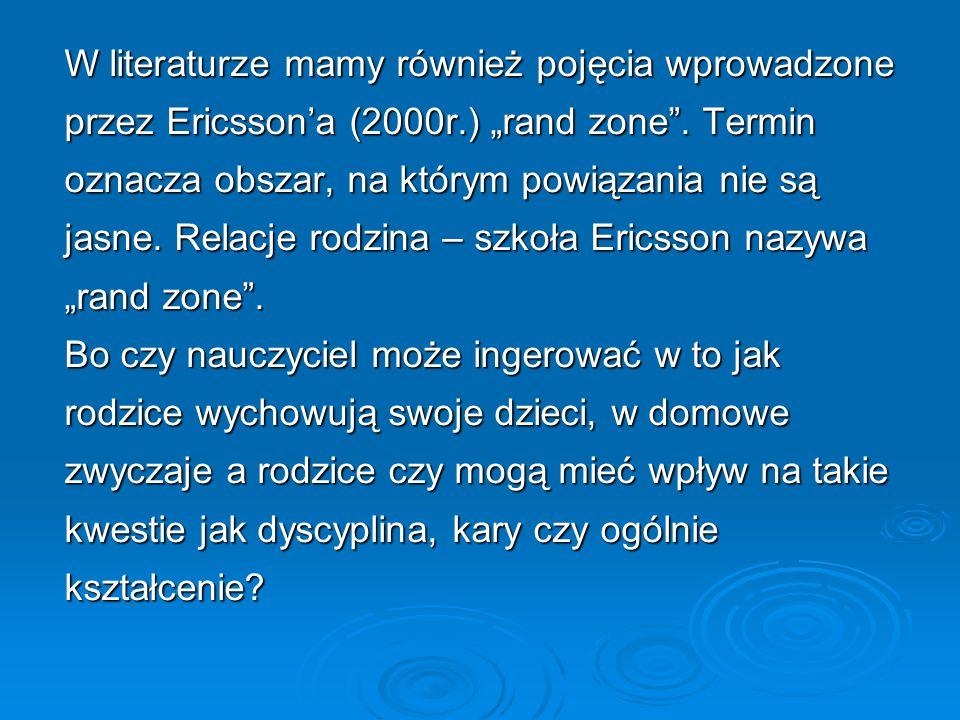 W literaturze mamy również pojęcia wprowadzone przez Ericsson'a (2000r