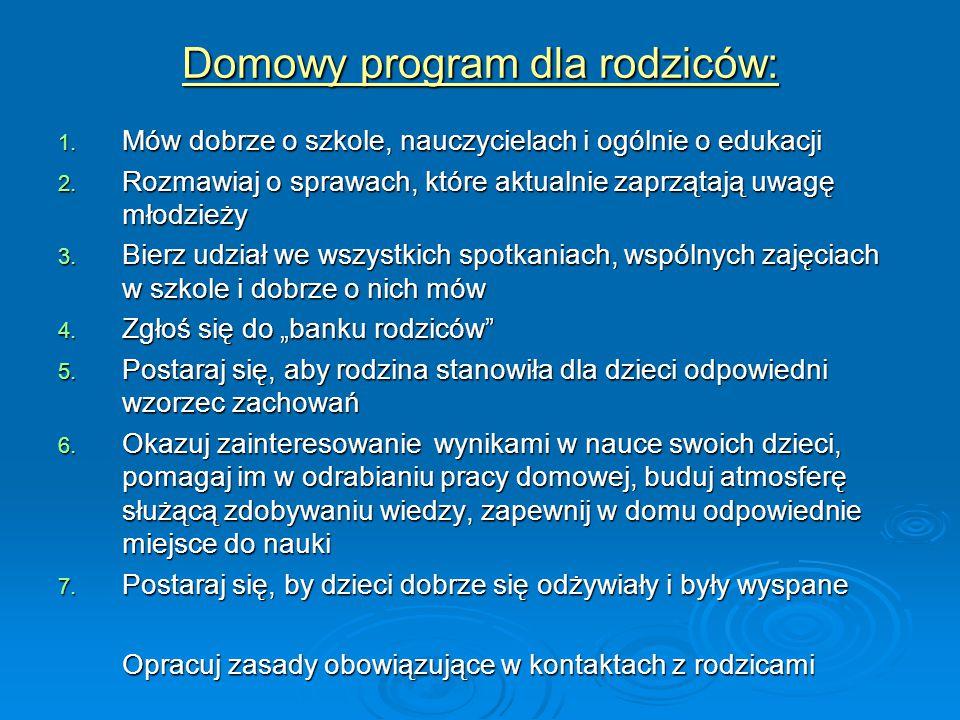 Domowy program dla rodziców: