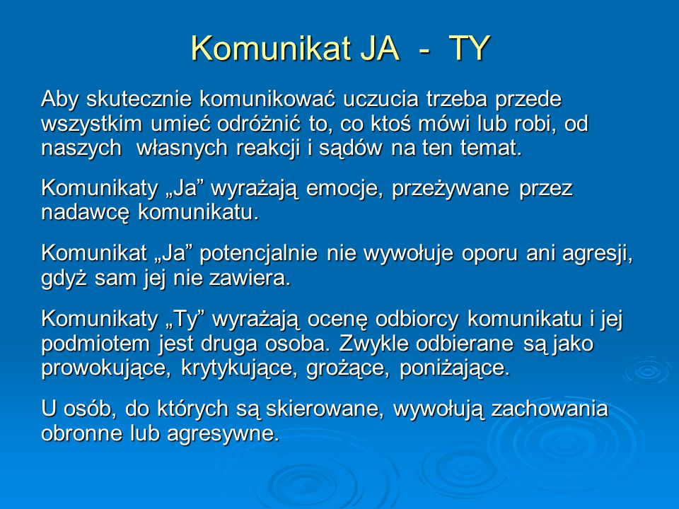 Komunikat JA - TY