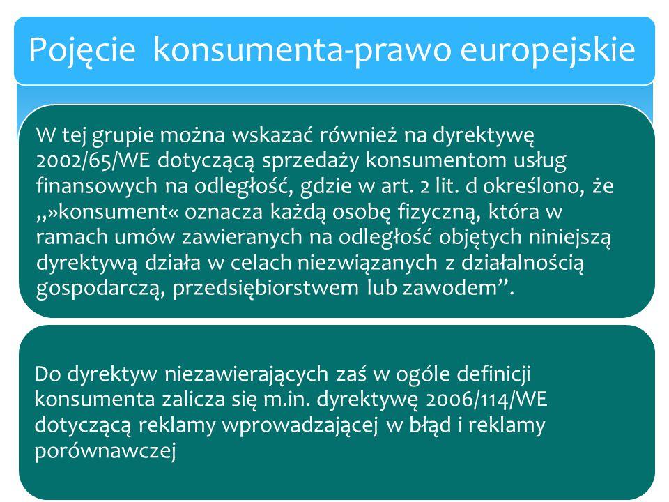 Pojęcie konsumenta-prawo europejskie