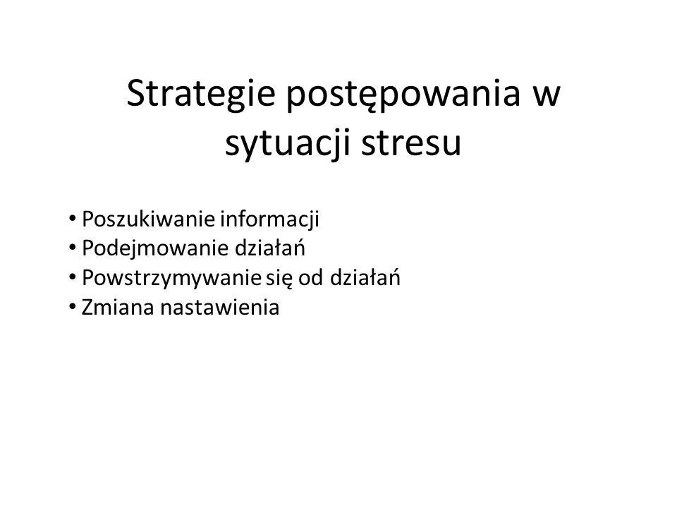 Strategie postępowania w sytuacji stresu