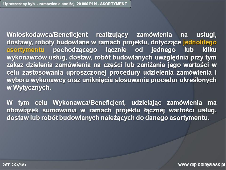 Uproszczony tryb - zamówienie poniżej 20 000 PLN - ASORTYMENT
