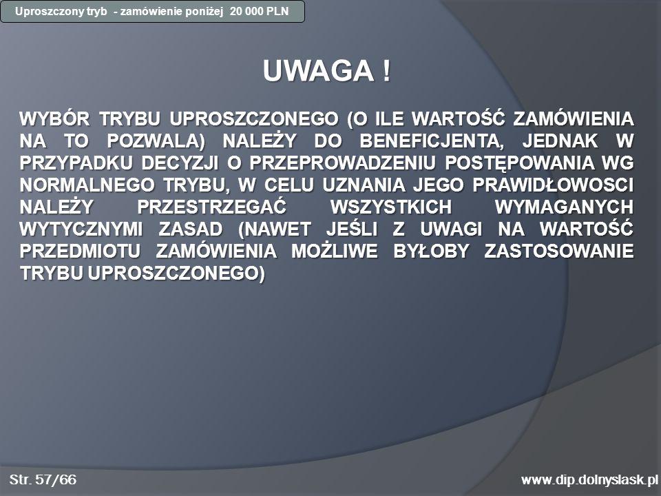 Uproszczony tryb - zamówienie poniżej 20 000 PLN