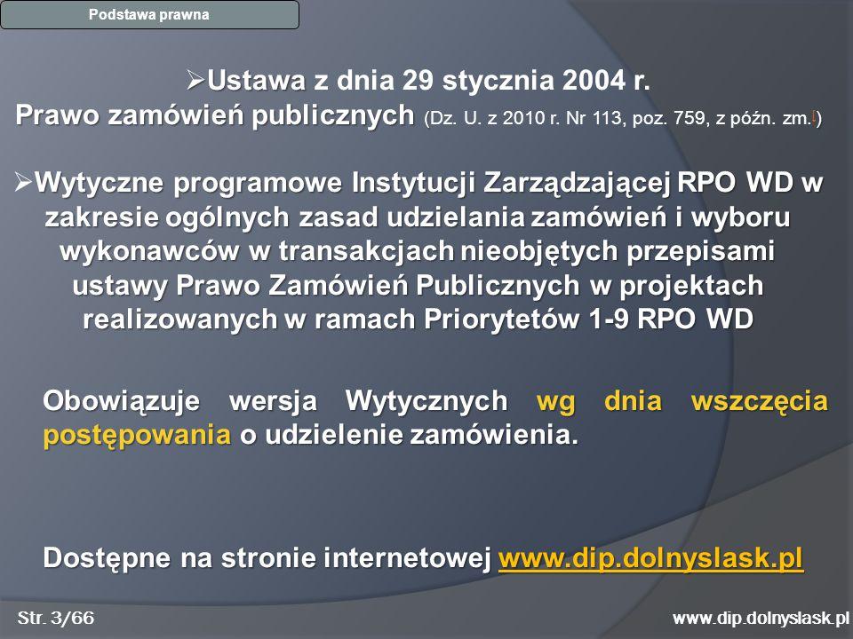 Ustawa z dnia 29 stycznia 2004 r.