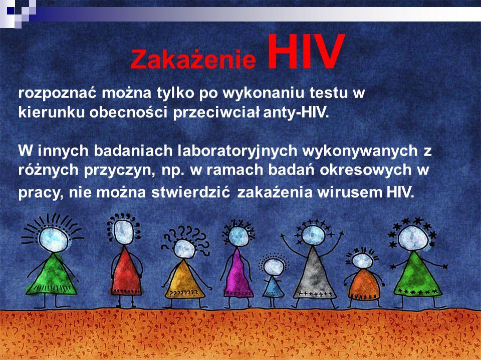 Zakażenie HIV rozpoznać można tylko po wykonaniu testu w