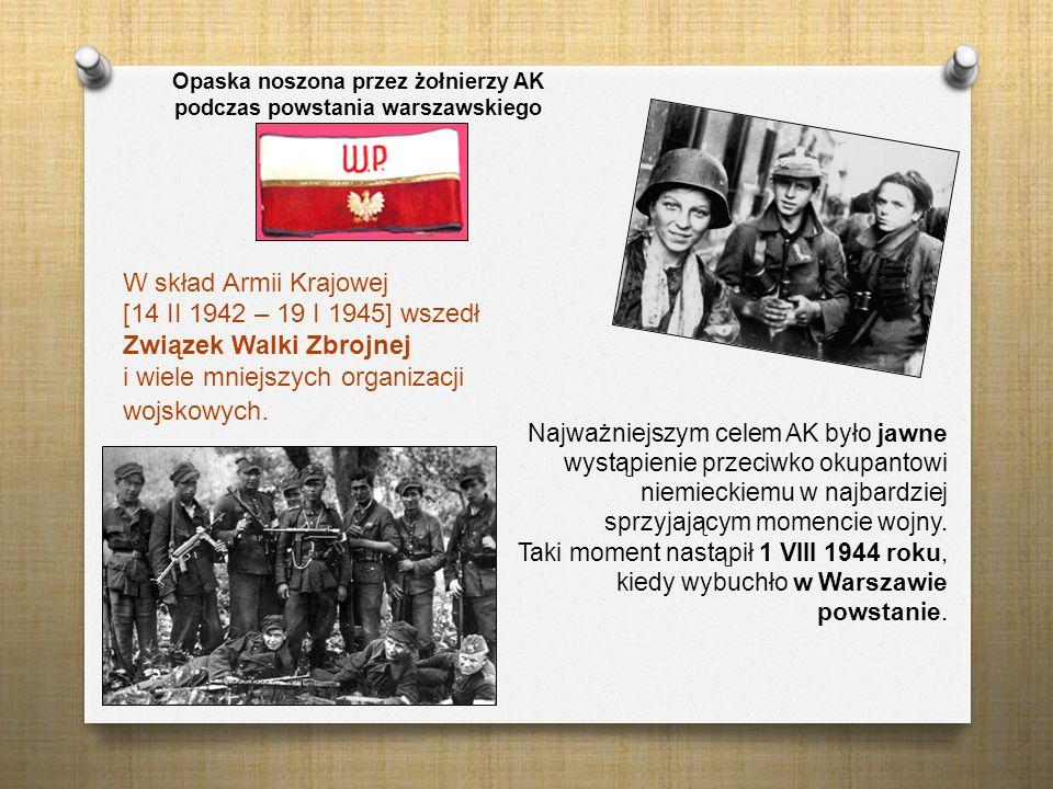 Opaska noszona przez żołnierzy AK podczas powstania warszawskiego