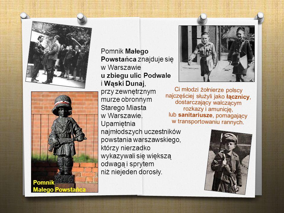 Pomnik Małego Powstańca znajduje się w Warszawie u zbiegu ulic Podwale i Wąski Dunaj, przy zewnętrznym murze obronnym Starego Miasta w Warszawie. Upamiętnia najmłodszych uczestników powstania warszawskiego, którzy nierzadko wykazywali się większą odwagą i sprytem niż niejeden dorosły.