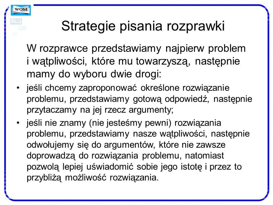 Strategie pisania rozprawki