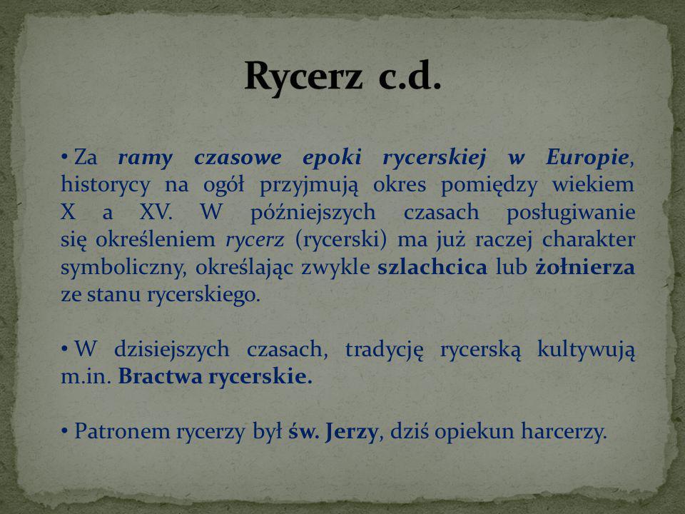 Rycerz c.d.