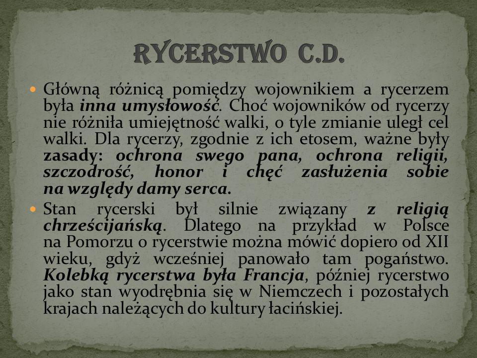 Rycerstwo c.d.