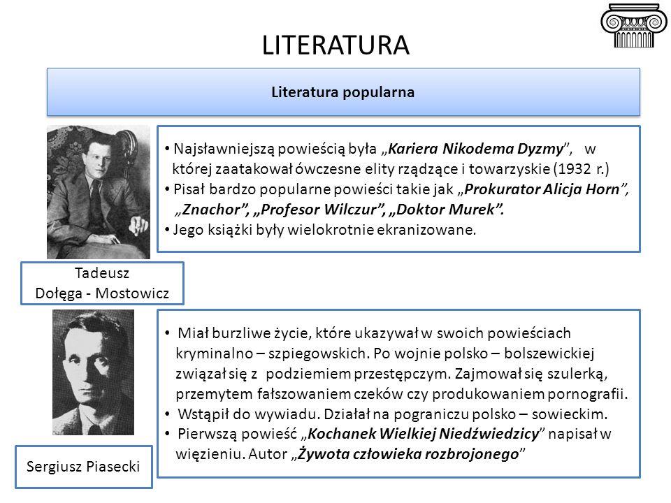 LITERATURA Literatura popularna