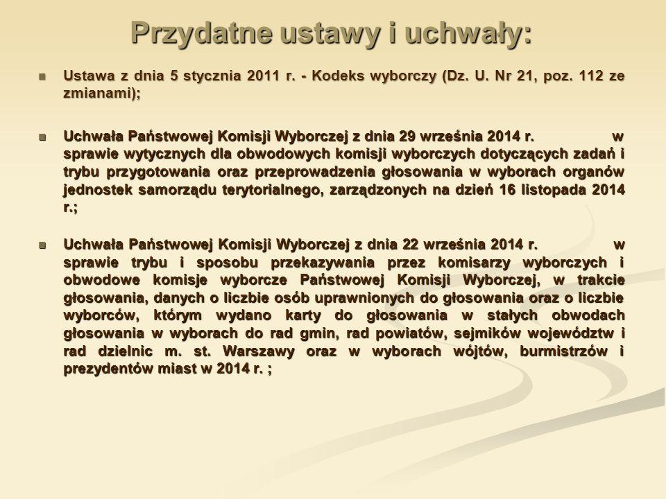 Przydatne ustawy i uchwały: