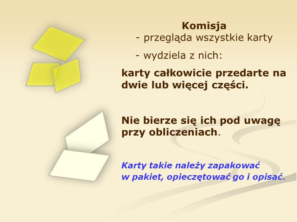 Komisja - przegląda wszystkie karty