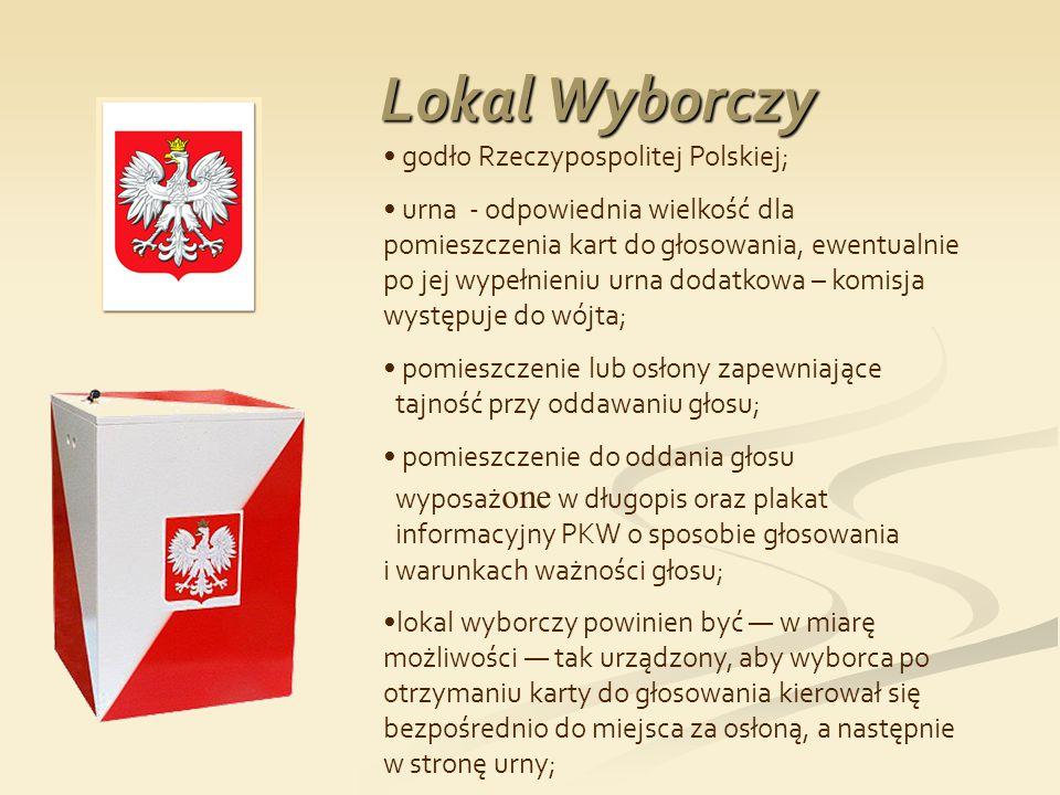 Lokal Wyborczy godło Rzeczypospolitej Polskiej;