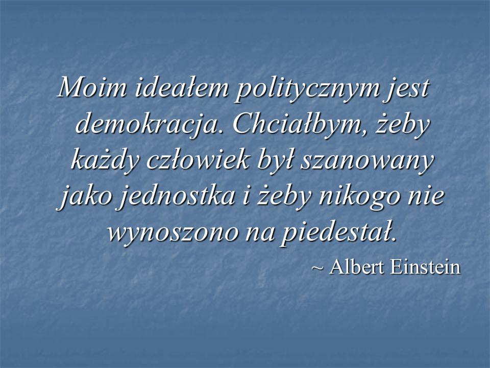 Moim ideałem politycznym jest demokracja