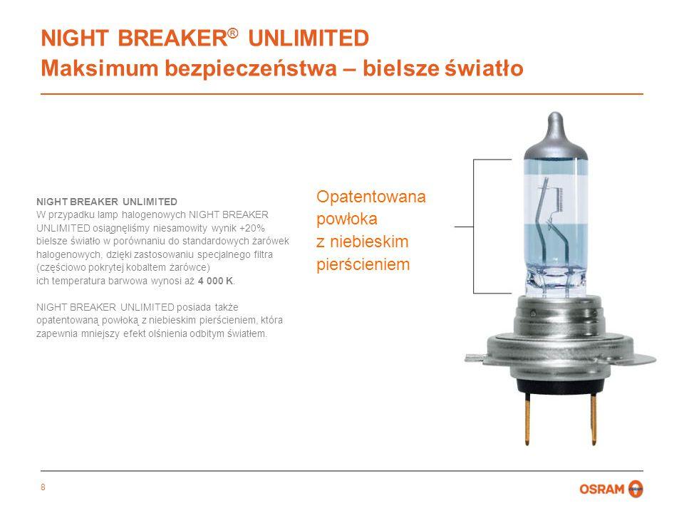 NIGHT BREAKER® UNLIMITED Maksimum bezpieczeństwa – bielsze światło