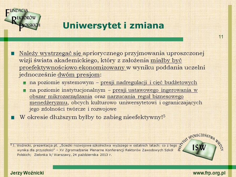 Uniwersytet i zmiana