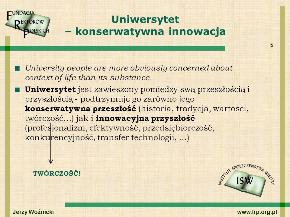 Uniwersytet – konserwatywna innowacja