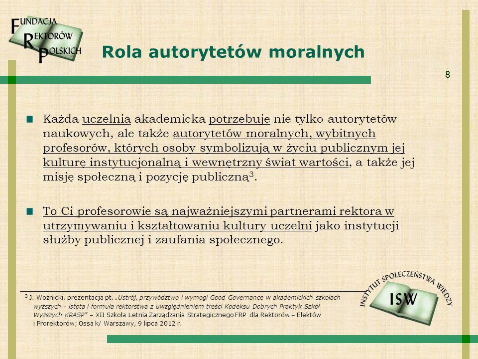Rola autorytetów moralnych