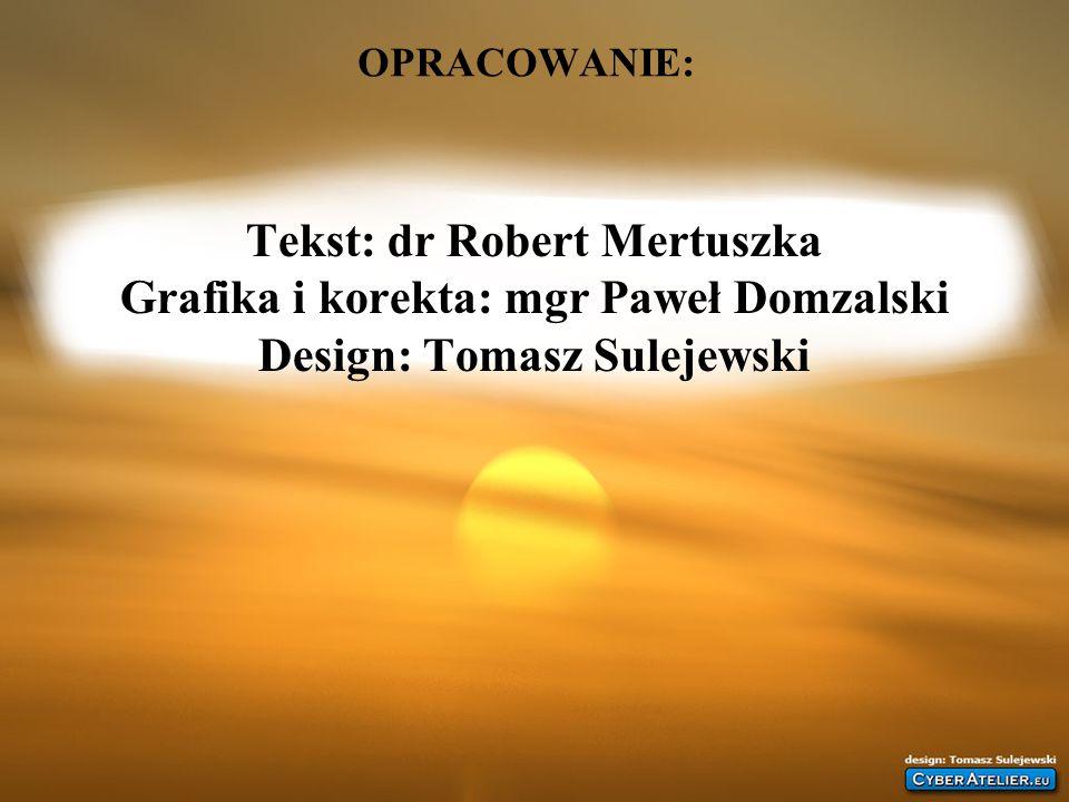 OPRACOWANIE: Tekst: dr Robert Mertuszka Grafika i korekta: mgr Paweł Domzalski Design: Tomasz Sulejewski.