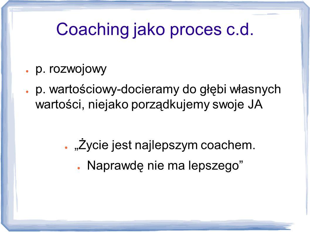 Coaching jako proces c.d.