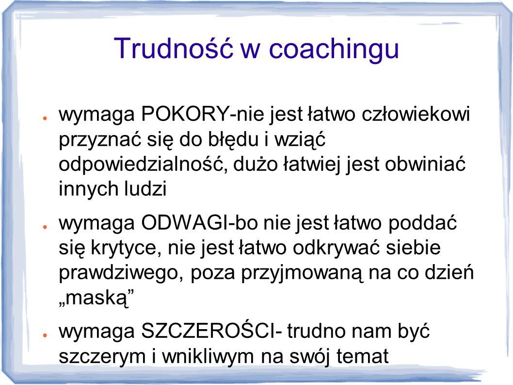 Trudność w coachingu