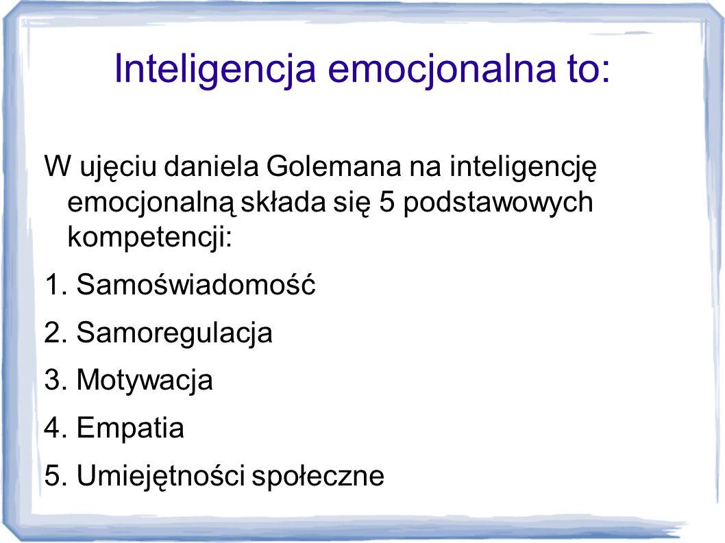 Inteligencja emocjonalna to: