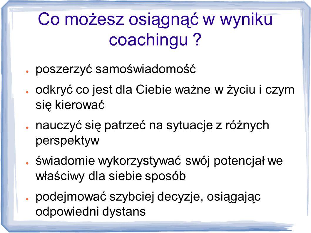 Co możesz osiągnąć w wyniku coachingu