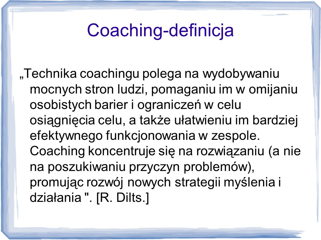 Coaching-definicja
