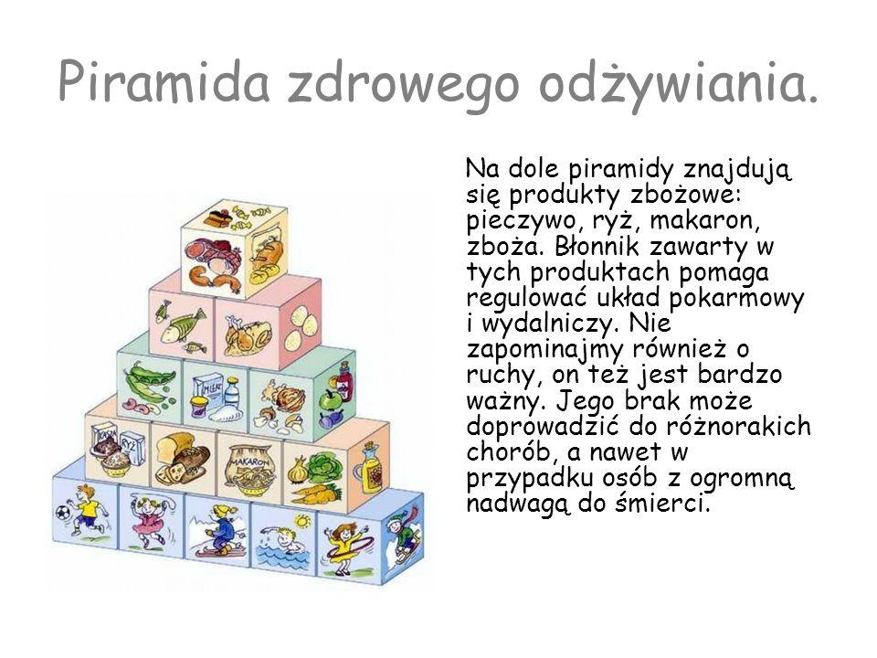 Piramida zdrowego odżywiania.