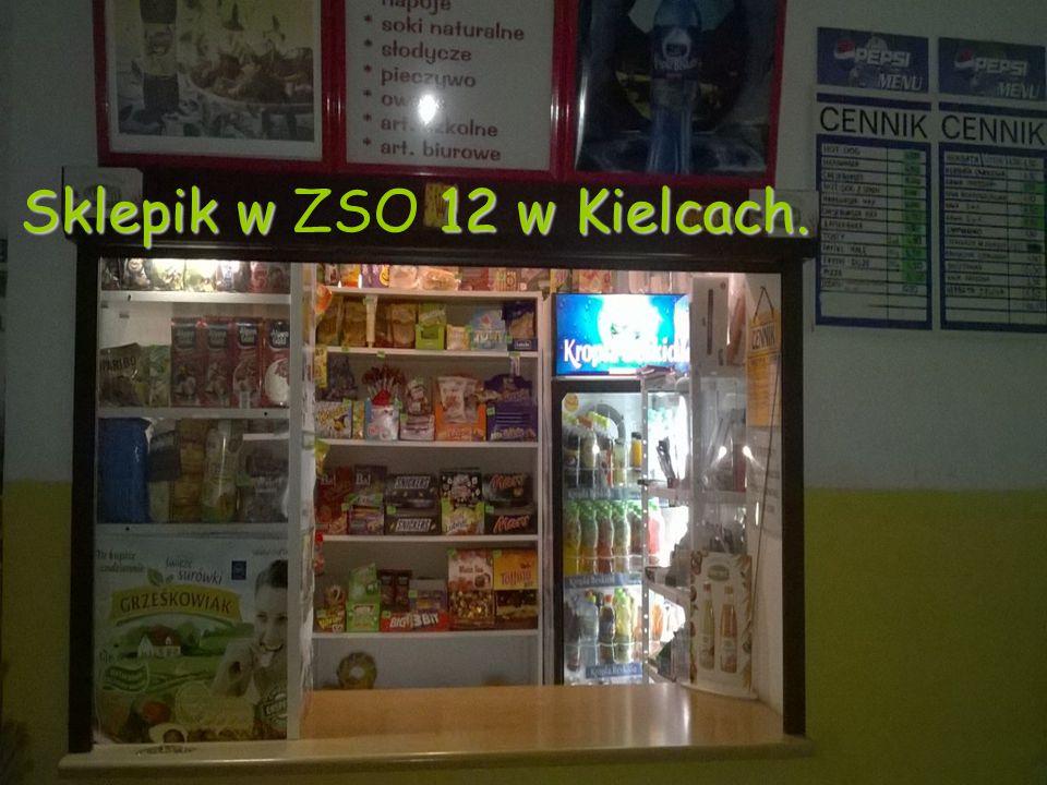 Sklepik w ZSO 12 w Kielcach.