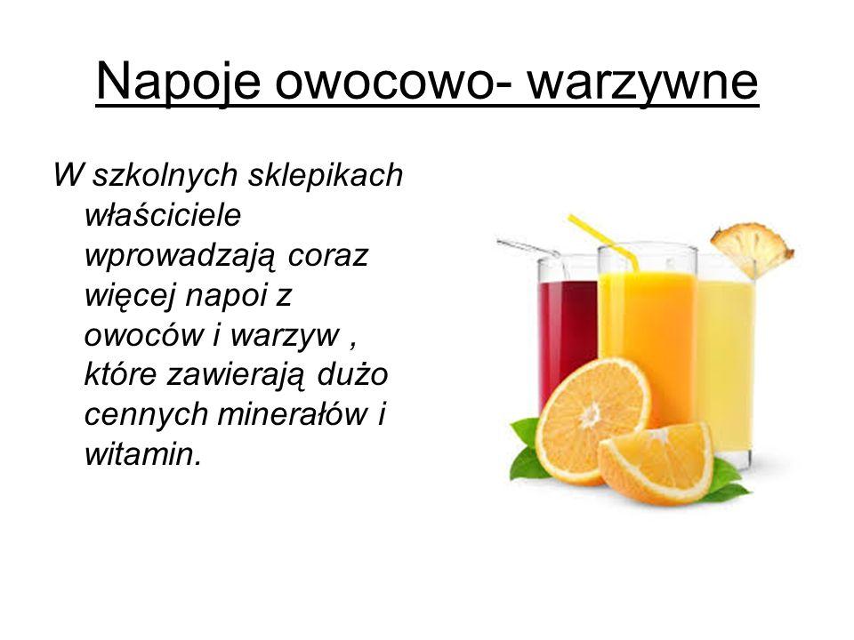 Napoje owocowo- warzywne