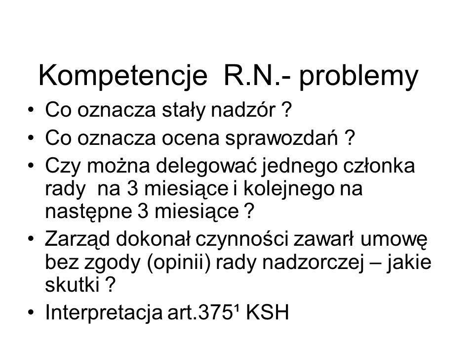 Kompetencje R.N.- problemy