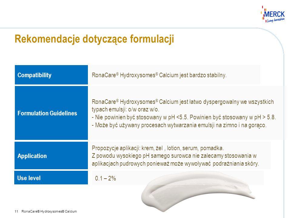 Rekomendacje dotyczące formulacji