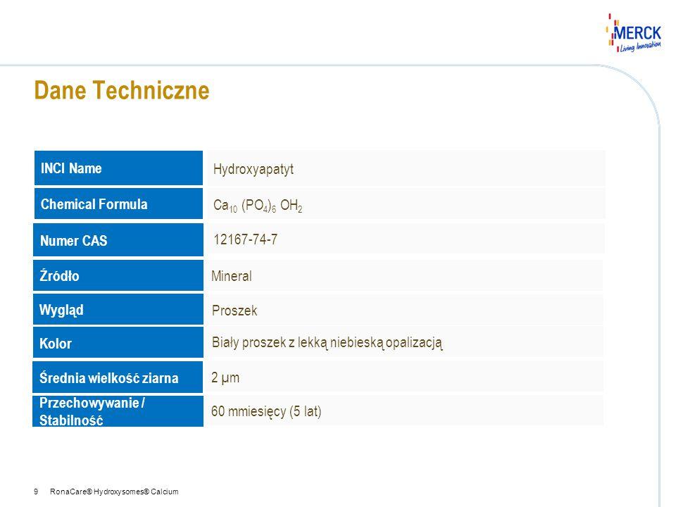 Dane Techniczne INCI Name Hydroxyapatyt Chemical Formula