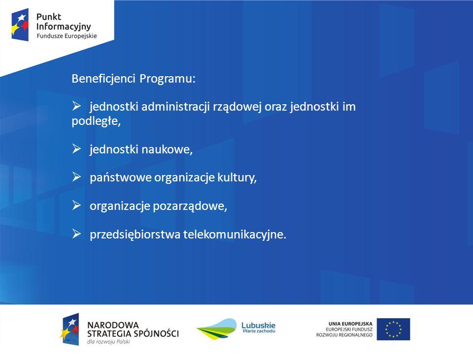 Beneficjenci Programu: