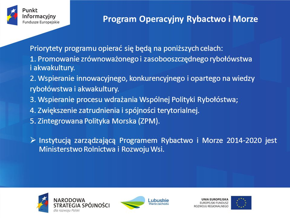 Program Operacyjny Rybactwo i Morze