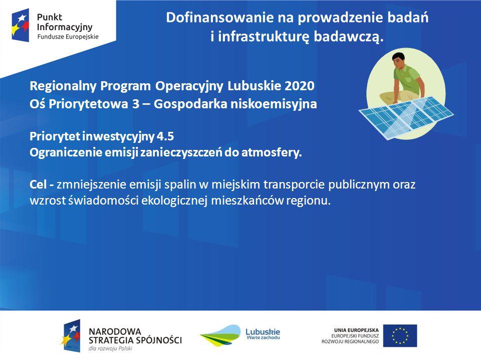 Dofinansowanie na prowadzenie badań i infrastrukturę badawczą.