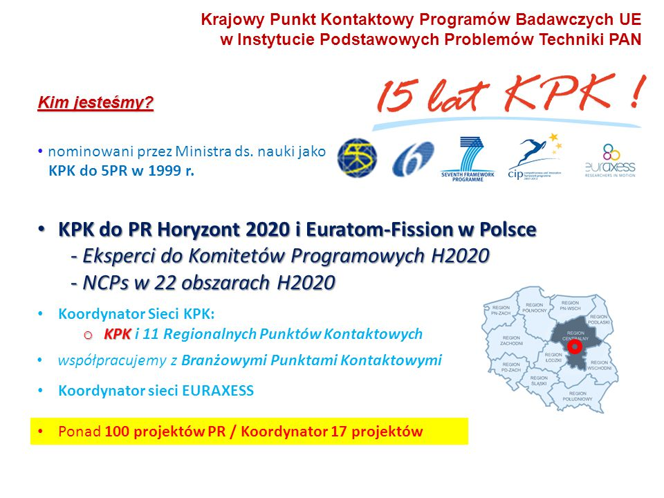 KPK do PR Horyzont 2020 i Euratom-Fission w Polsce